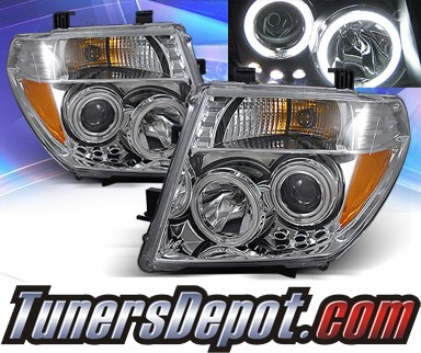 KS® CCFL Halo Projector Headlights (Chrome) - 05-07 Nissan Pathfinder