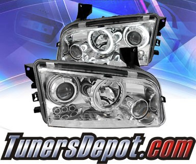 KS® CCFL Halo Projector Headlights (Chrome) - 06-10 Dodge Charger