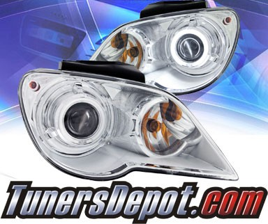 KS® CCFL Halo Projector Headlights (Chrome) - 07-08 Chrysler Pacifica