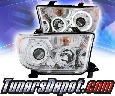 KS® CCFL Halo Projector Headlights (Chrome) - 07-13 Toyota Tundra