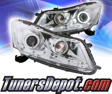 KS® CCFL Halo Projector Headlights (Chrome) - 08-12 Honda Accord 4dr