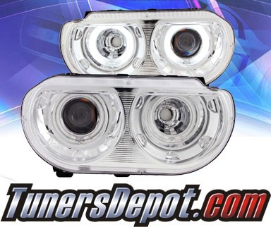 KS® CCFL Halo Projector Headlights (Chrome) - 08-13 Dodge Challenger