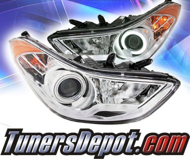 KS® CCFL Halo Projector Headlights (Chrome) - 11-13 Hyundai Elatra