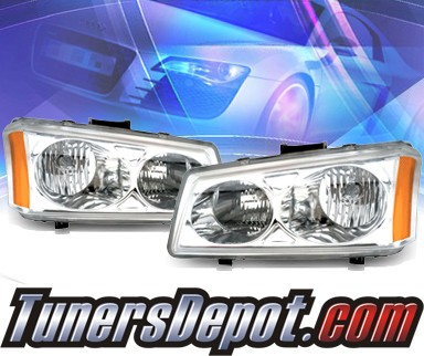 KS® Crystal Headlights - 03-06 Chevy Avalance (w/o body cladding only)