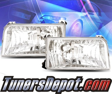 KS® Crystal Headlights - 92-96 Ford F-350 F350