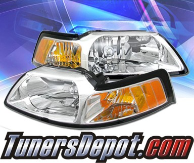 KS® Crystal Headlights  - 99-04 Ford Mustang