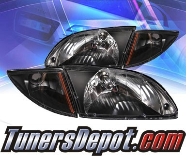 KS® Crystal Headlights (Black) - 00-02 Chevy Cavalier