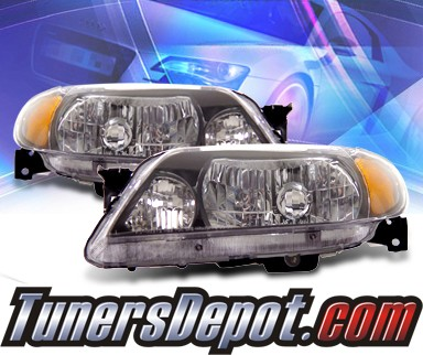 KS® Crystal Headlights (Black) - 01-03 Mazda Protege