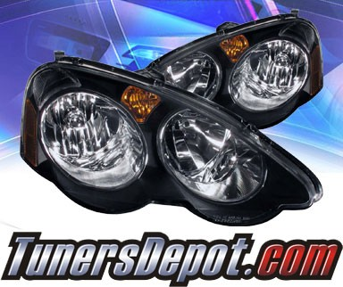 KS® Crystal Headlights (Black) - 02-04 Acura RSX