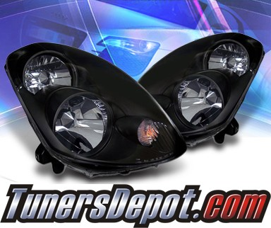 Ks Crystal Headlights Black 03 04 Infiniti G35 4dr Sedan 02 Az Ig03 B 4d