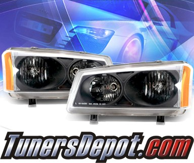 KS® Crystal Headlights (Black) - 03-06 Chevy Avalance (w/o body cladding only)