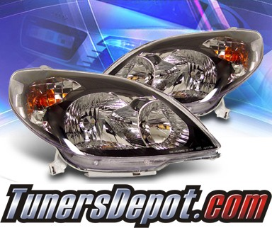 KS® Crystal Headlights (Black) - 03-08 Toyota Matrix