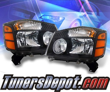 KS® Crystal Headlights (Black) - 04-07 Nissan Titan