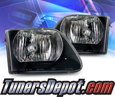 2001 ford f 150 ks crystal headlights black f 150 f150 02 az ff97 b g2. Black Bedroom Furniture Sets. Home Design Ideas