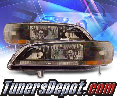 KS® Crystal Headlights (Black) - 98-02 Honda Accord