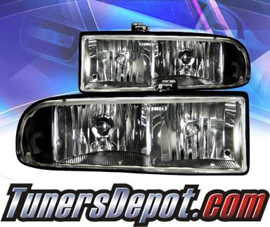 KS® Crystal Headlights (Black) - 98-04 Chevy S10