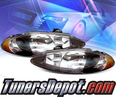 KS® Crystal Headlights (Black) - 98-04 Dodge Intrepid