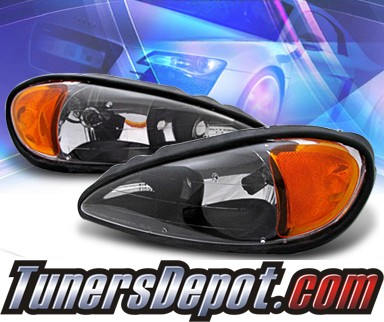 KS® Crystal Headlights (Black) - 99-05 Pontiac Grand Am