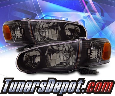 KS® Crystal Headlights + Corner Set (Black) - 01-02 Toyota Corolla