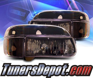KS® Crystal Headlights + Corner Set (Black) - 95-01 Ford Explorer