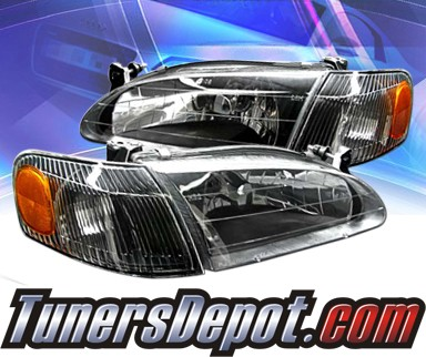 KS® Crystal Headlights + Corner Set (Black) - 98-00 Toyota Corolla