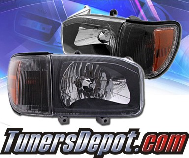 KS® Crystal Headlights + Corner Set (Black) - 99-04 Nissan Pathfinder