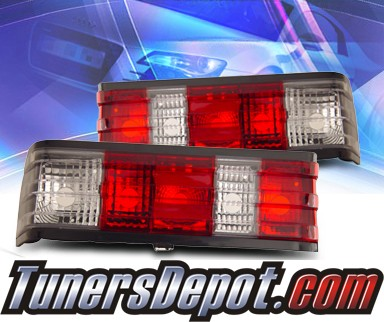 KS® Euro Tail Lights (Red/Clear) - 82-93 Mercedes-Benz 190 W201