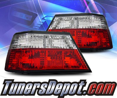 KS® Euro Tail Lights (Red/Clear) - 86-95 Mercedes Benz 260E W124
