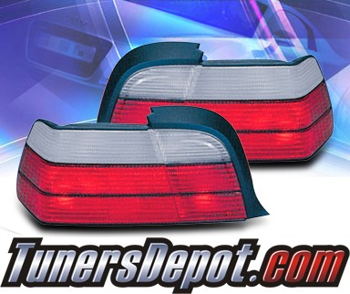 KS® Euro Tail Lights (Red/Clear) - 92-99 BMW 323is E36 2dr.