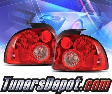 KS® Euro Tail Lights (Red/Clear) - 95-99 Dodge Neon
