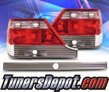 KS® Euro Tail Lights (Red/Clear) - 95-99 Mercedes-Benz S320 W140