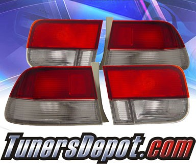 KS® Euro Tail Lights (Red/Clear) - 96-00 Honda Civic 2dr.
