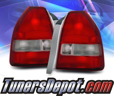 KS® Euro Tail Lights (Red/Clear) - 96-00 Honda Civic 3dr.