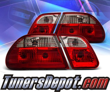 KS® Euro Tail Lights (Red/Clear) - 96-02 Mercedes-Benz E320 Sedan W210