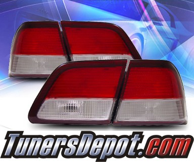 KS® Euro Tail Lights (Red/Clear) - 97-99 Nissan Maxima