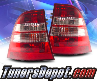 KS® Euro Tail Lights (Red/Clear) - 98-05 Mercedes-Benz ML55 AMG W163