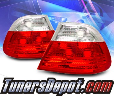 KS® Euro Tail Lights (Red/Clear) - 99-01 BMW 325Ci E46 2dr. exc. Convertible (Outer Pieces Only)