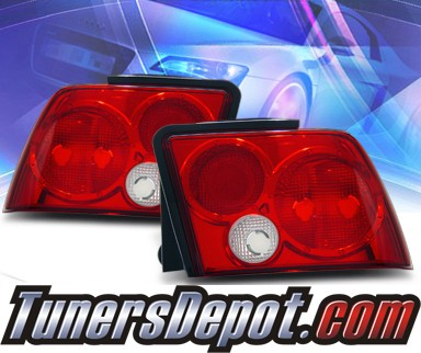 KS® Euro Tail Lights (Red/Clear) - 99-04 Ford Mustang