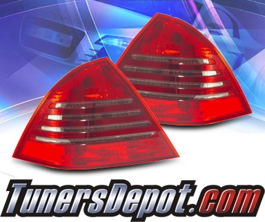 KS® Euro Tail Lights (Red/Smoke) - 01-04 Mercedes-Benz C240 Sedan W203