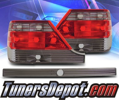 KS® Euro Tail Lights (Red/Smoke) - 95-99 Mercedes-Benz S320 W140