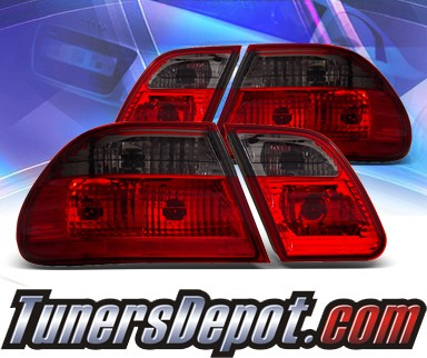 KS® Euro Tail Lights (Red/Smoke) - 96-02 Mercedes-Benz E430 Sedan W210