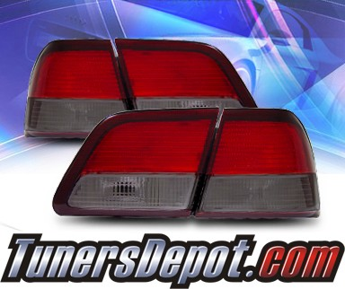 KS® Euro Tail Lights (Red/Smoke) - 97-99 Nissan Maxima