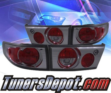 KS® Euro Tail Lights (Smoke) - 03-05 Honda Accord 4dr.