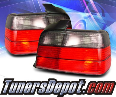 KS® Euro Tail Lights (Smoke) - 92-98 BMW M3 E36 2dr.