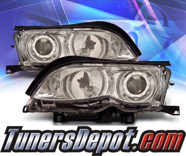 KS® Halo Projector Headlights - 02-05 BMW 325i E46 4dr