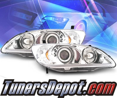 KS® Halo Projector Headlights - 04-05 Honda Civic 2/4dr.