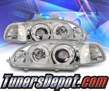 KS® Halo Projector Headlights - 92-95 Honda Civic 2/3dr.