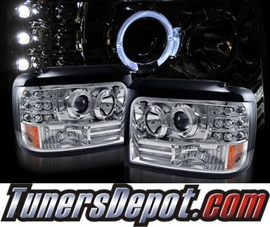 KS® Halo Projector Headlights - 92-96 Ford F350 F-350