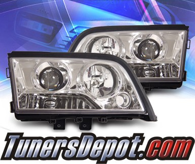 KS® Halo Projector Headlights - 94-00 Mercedes-Benz C230 Sedan W202 without Stock HID