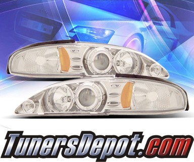 KS® Halo Projector Headlights - 94-98 Ford Mustang